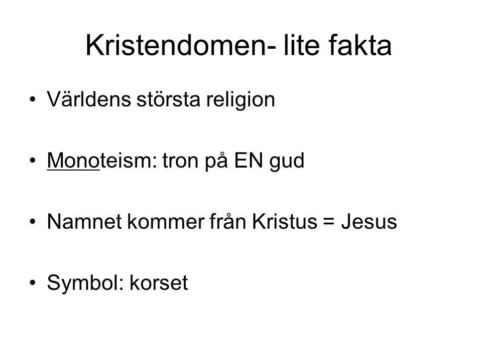 Kristendomen- lite fakta