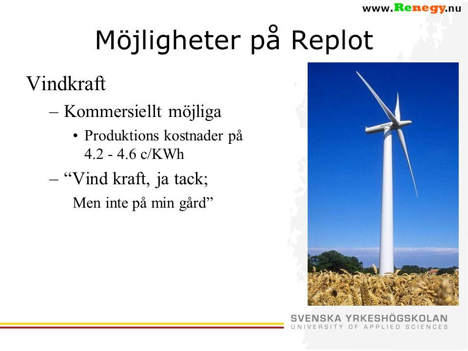 Möjligheter på Replot Vindkraft Kommersiellt möjliga