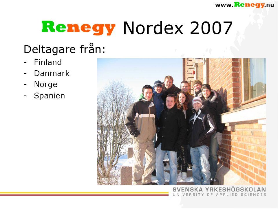 Nordex 2007 Deltagare från: Finland Danmark Norge Spanien