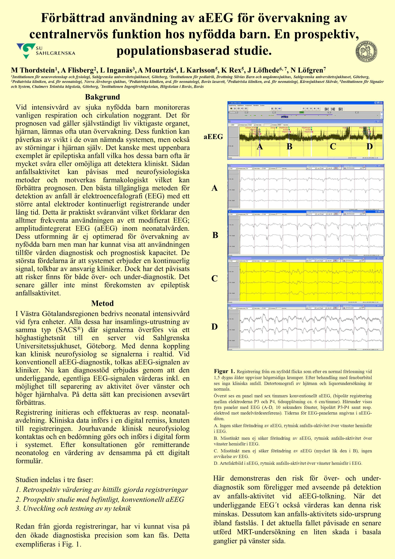 Förbättrad användning av aEEG för övervakning av centralnervös funktion hos nyfödda barn. En prospektiv, populationsbaserad studie.