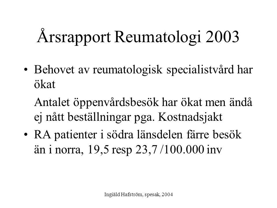 Årsrapport Reumatologi 2003