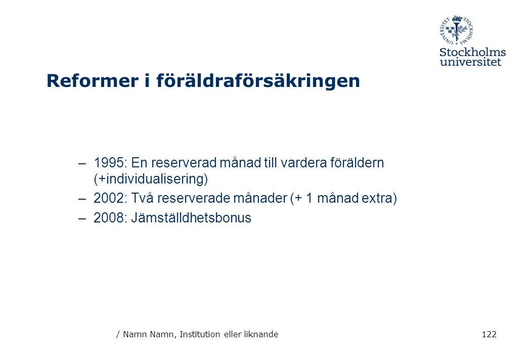 Reformer i föräldraförsäkringen
