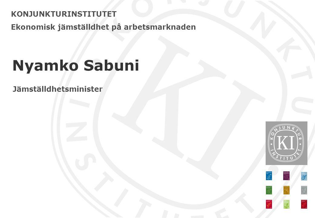 Nyamko Sabuni KONJUNKTURINSTITUTET