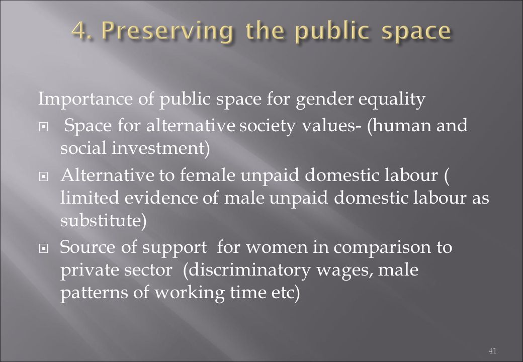 4. Preserving the public space
