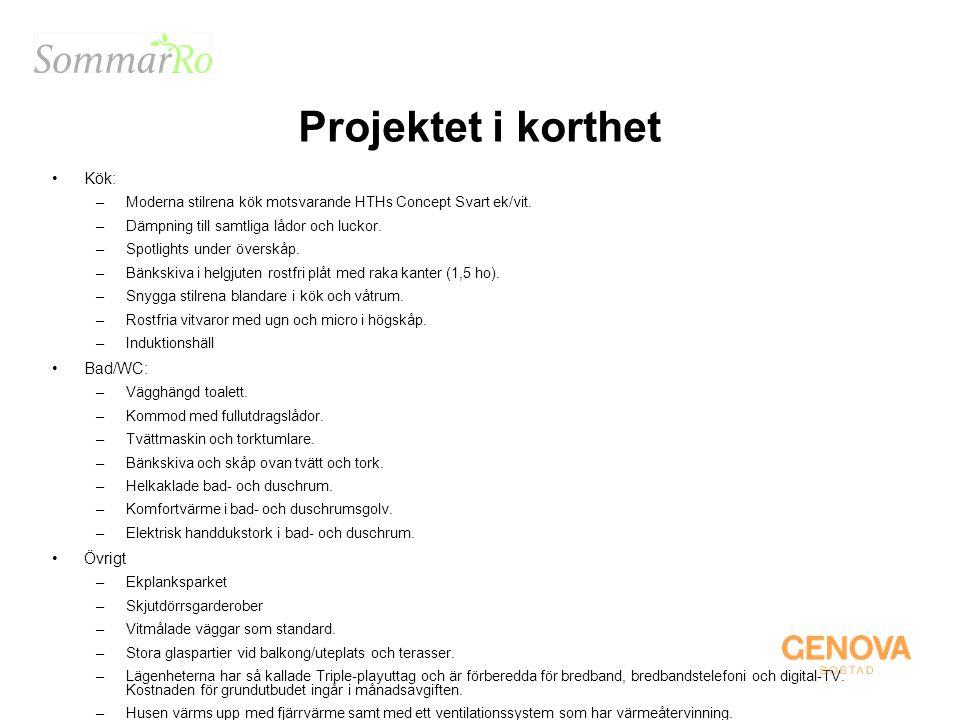 Projektet i korthet Kök: Bad/WC: Övrigt