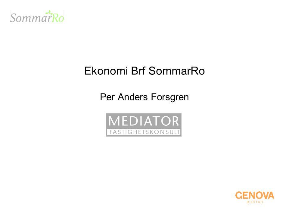 Ekonomi Brf SommarRo Per Anders Forsgren