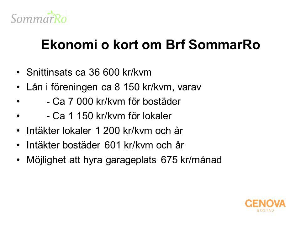 Ekonomi o kort om Brf SommarRo