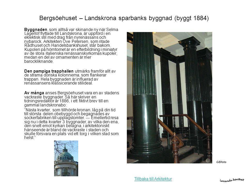 Bergsöehuset – Landskrona sparbanks byggnad (byggt 1884)
