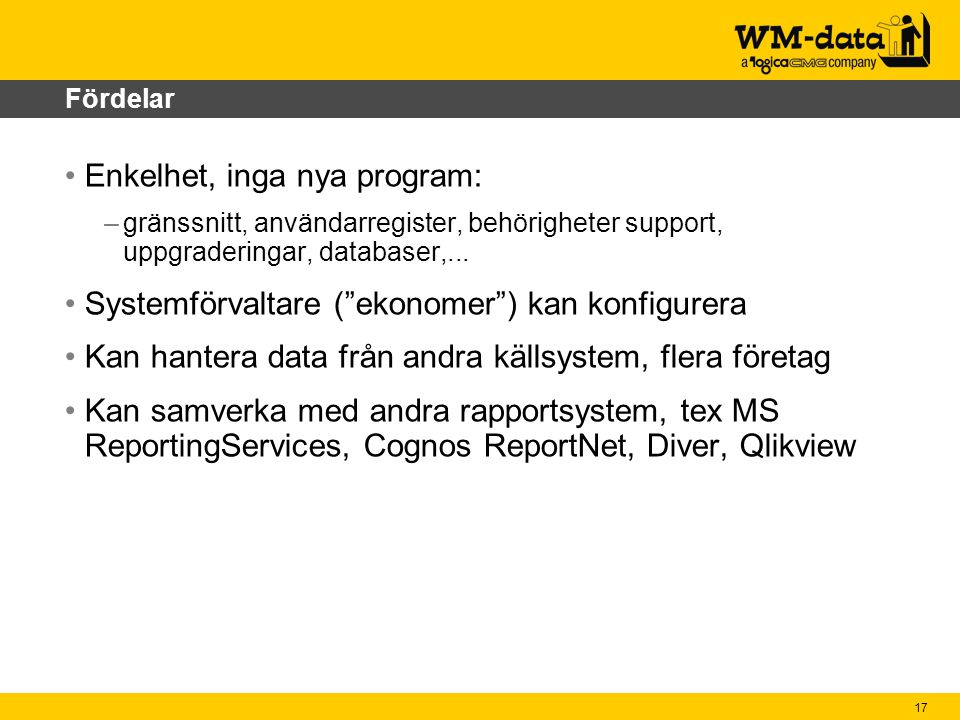 Enkelhet, inga nya program: