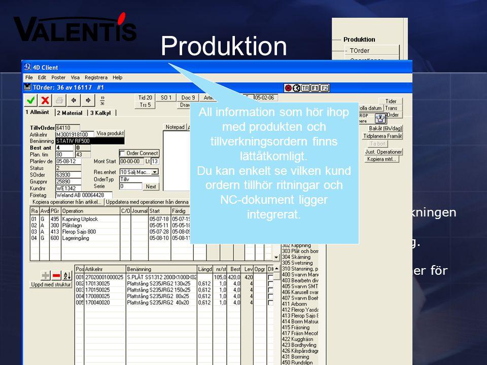 Produktion Styr hela din verksamhet online Tillverkningsorder