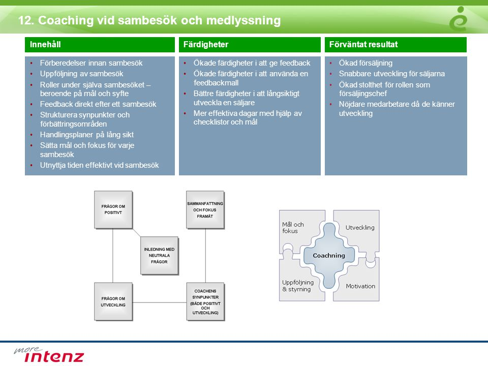 12. Coaching vid sambesök och medlyssning