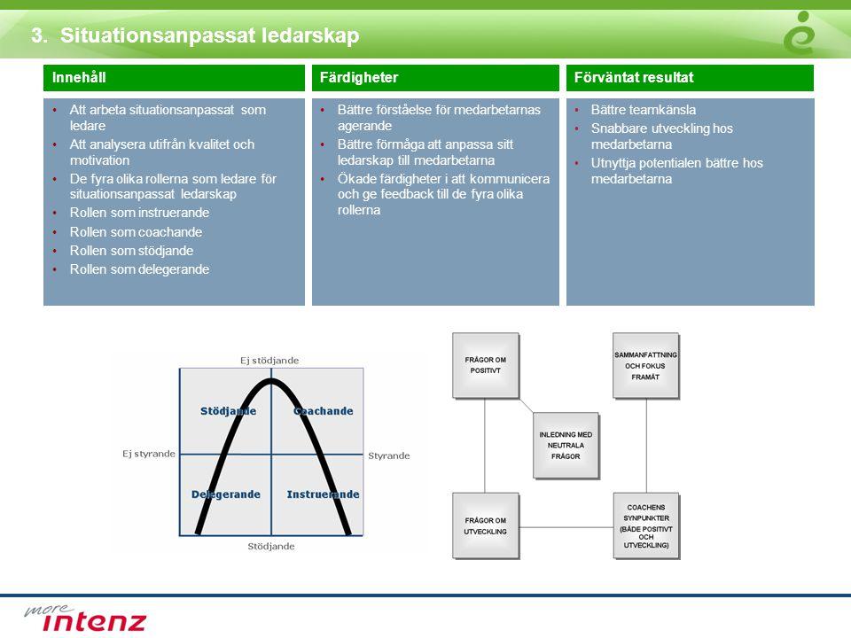 3. Situationsanpassat ledarskap