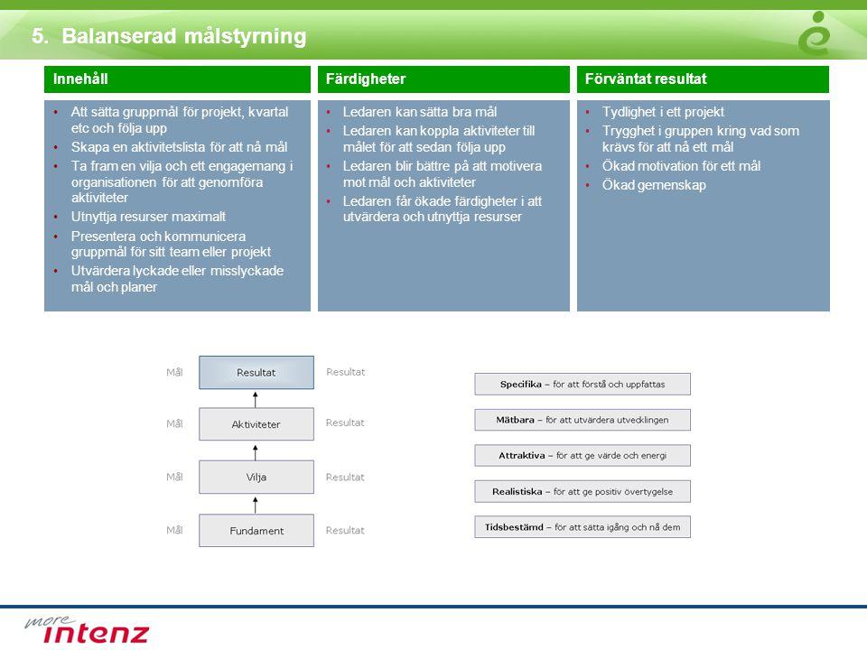 5. Balanserad målstyrning