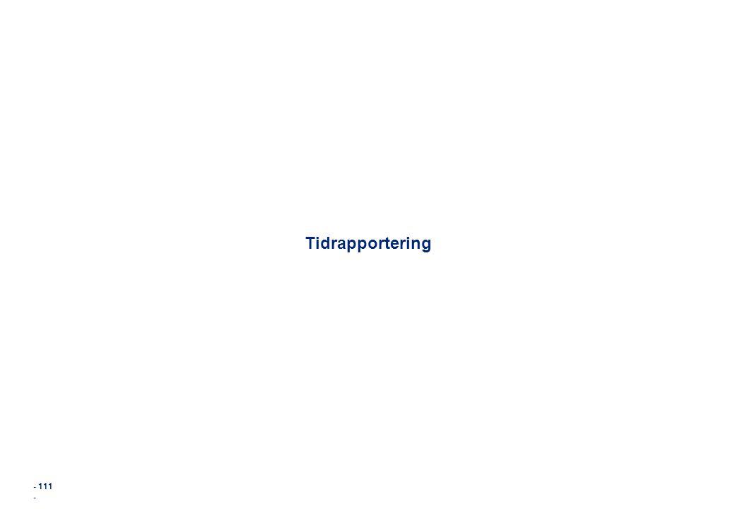 Tidrapportering - 111 - 111