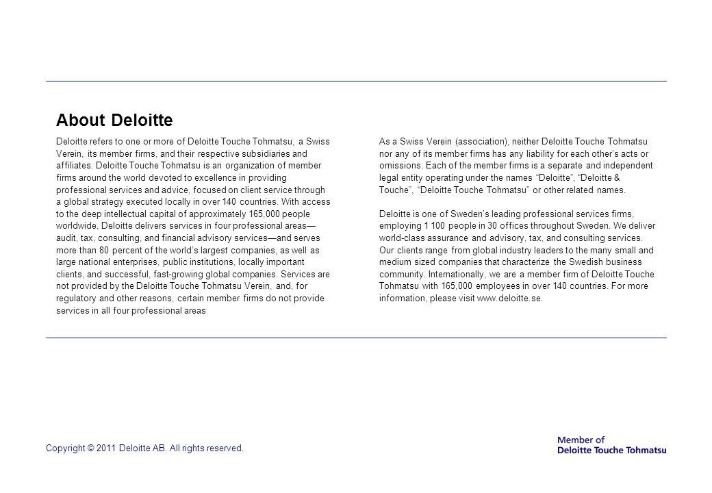 About Deloitte