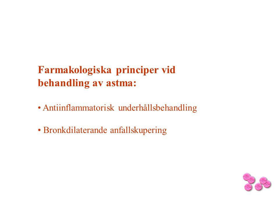 Farmakologiska principer vid behandling av astma: