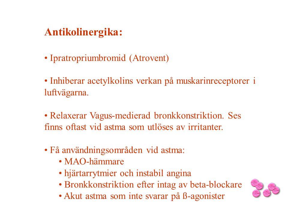 Antikolinergika: Ipratropriumbromid (Atrovent)