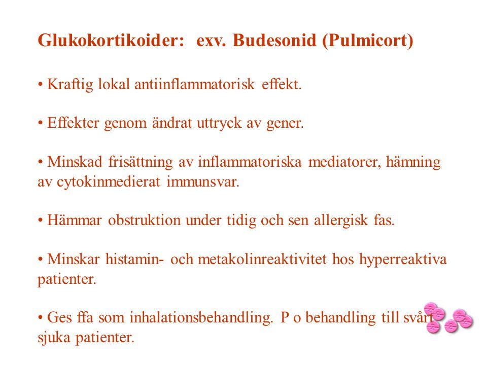 Glukokortikoider: exv. Budesonid (Pulmicort)