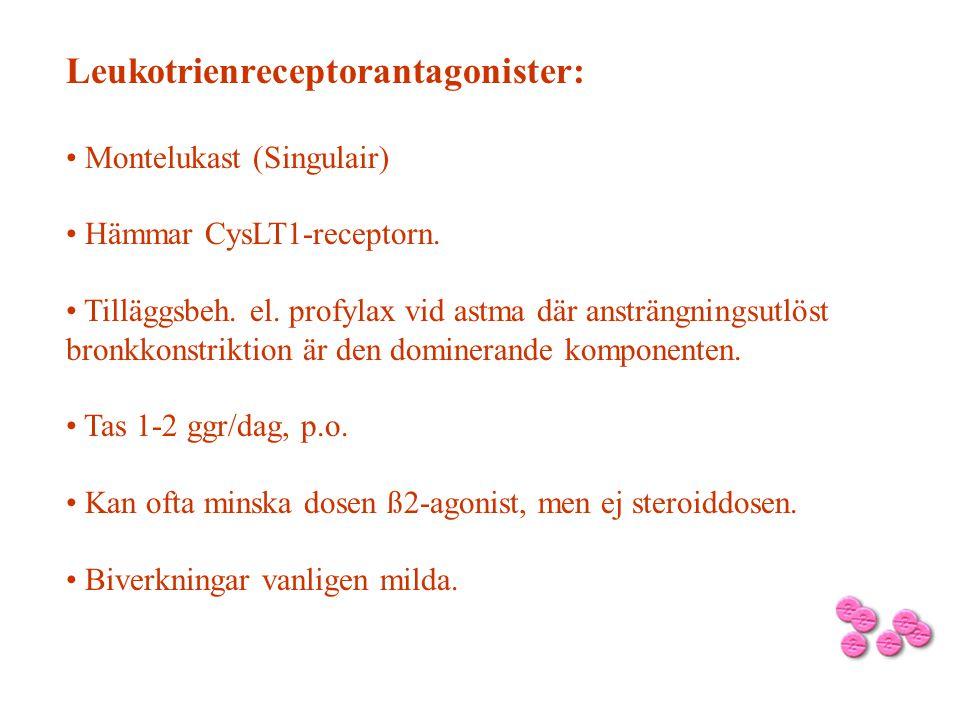 Leukotrienreceptorantagonister: