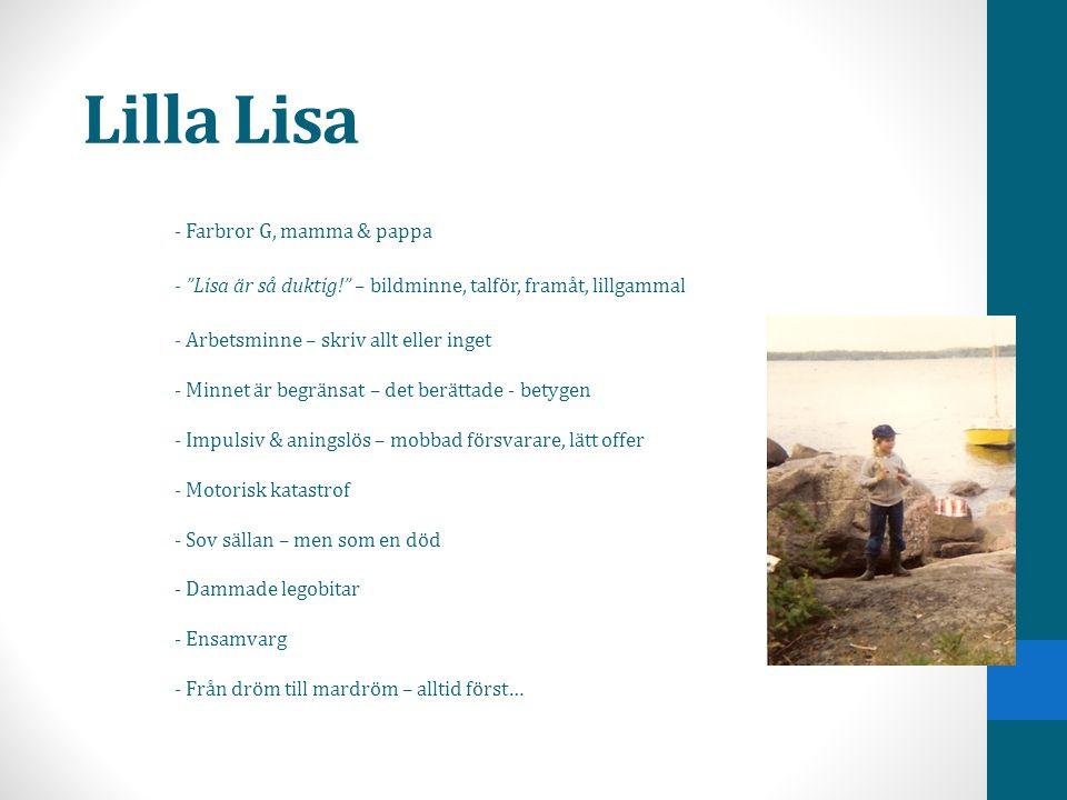 Lilla Lisa - Farbror G, mamma & pappa