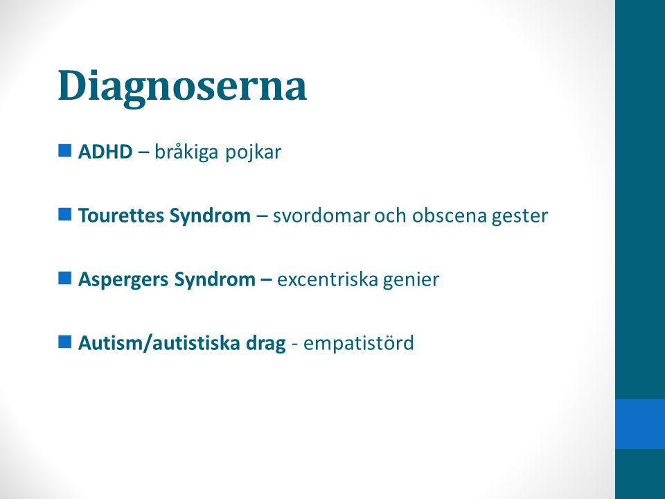 Diagnoserna ADHD – bråkiga pojkar