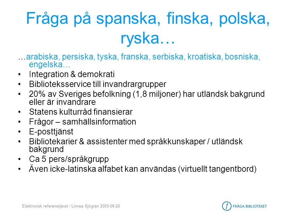Fråga på spanska, finska, polska, ryska…