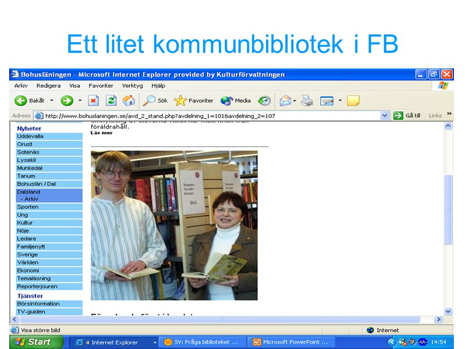 Ett litet kommunbibliotek i FB