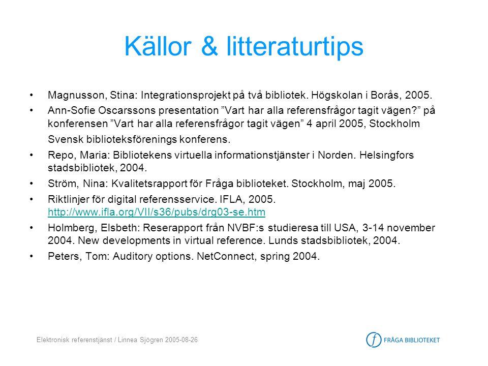 Källor & litteraturtips