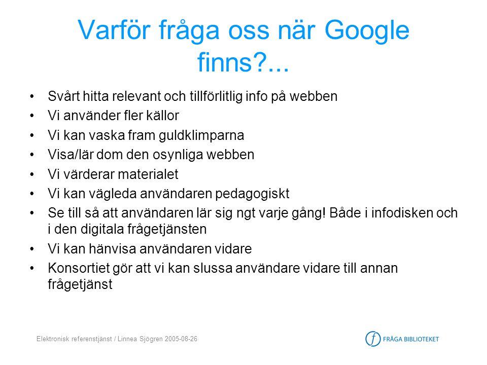 Varför fråga oss när Google finns ...
