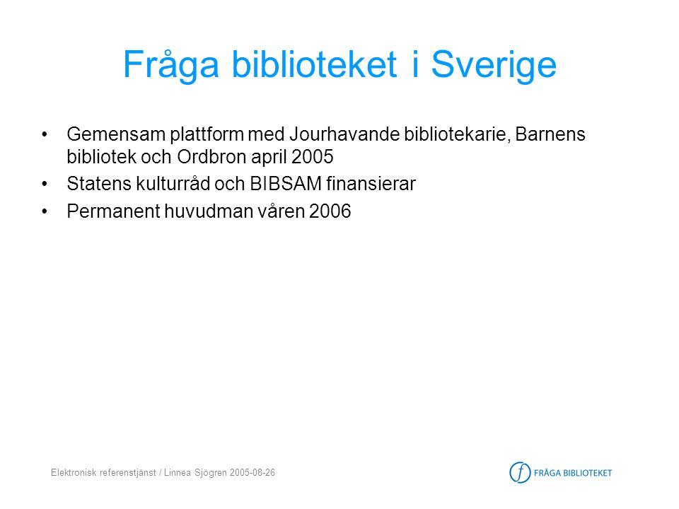 Fråga biblioteket i Sverige