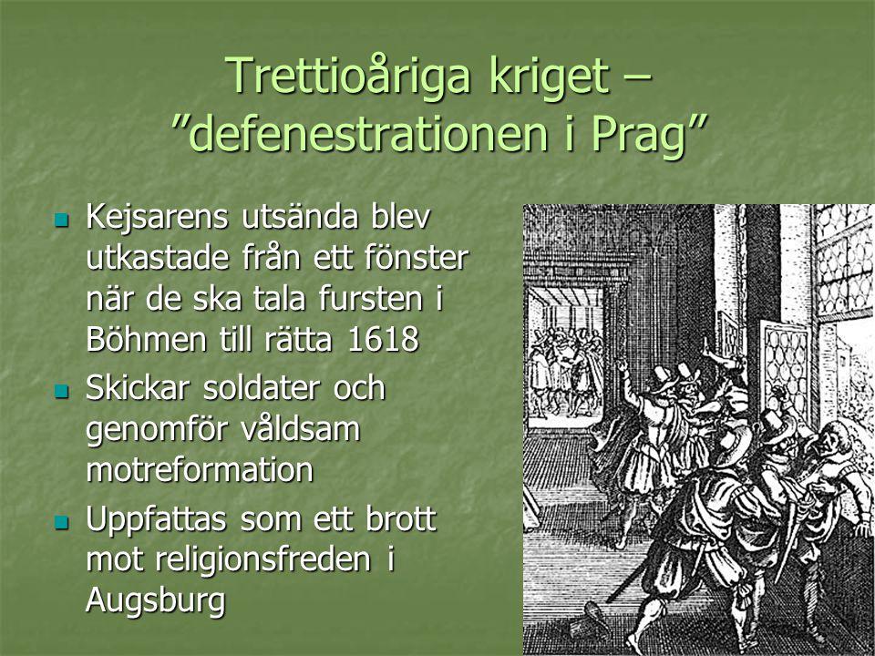 Trettioåriga kriget – defenestrationen i Prag