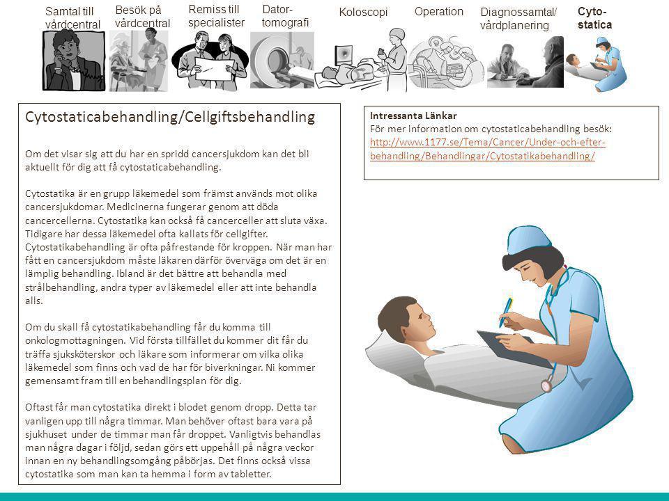 Cytostaticabehandling/Cellgiftsbehandling
