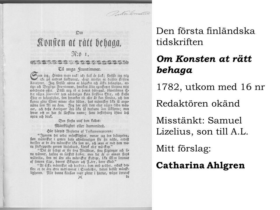 Den första finländska tidskriften