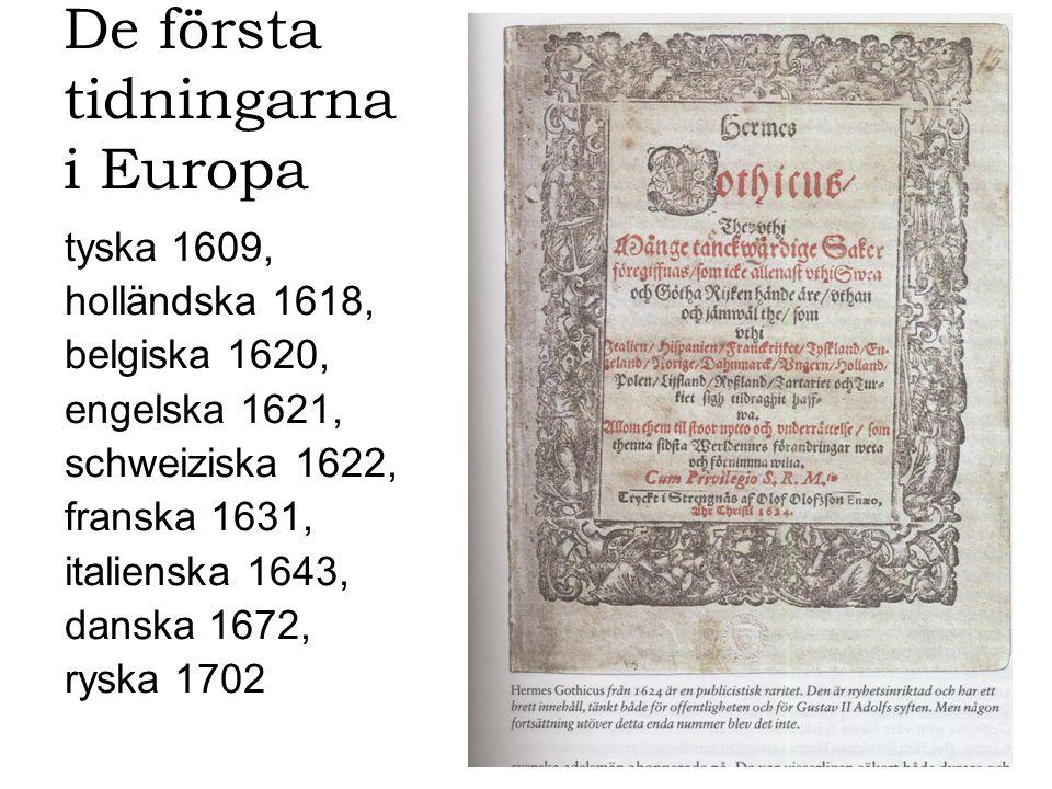 De första tidningarna i Europa