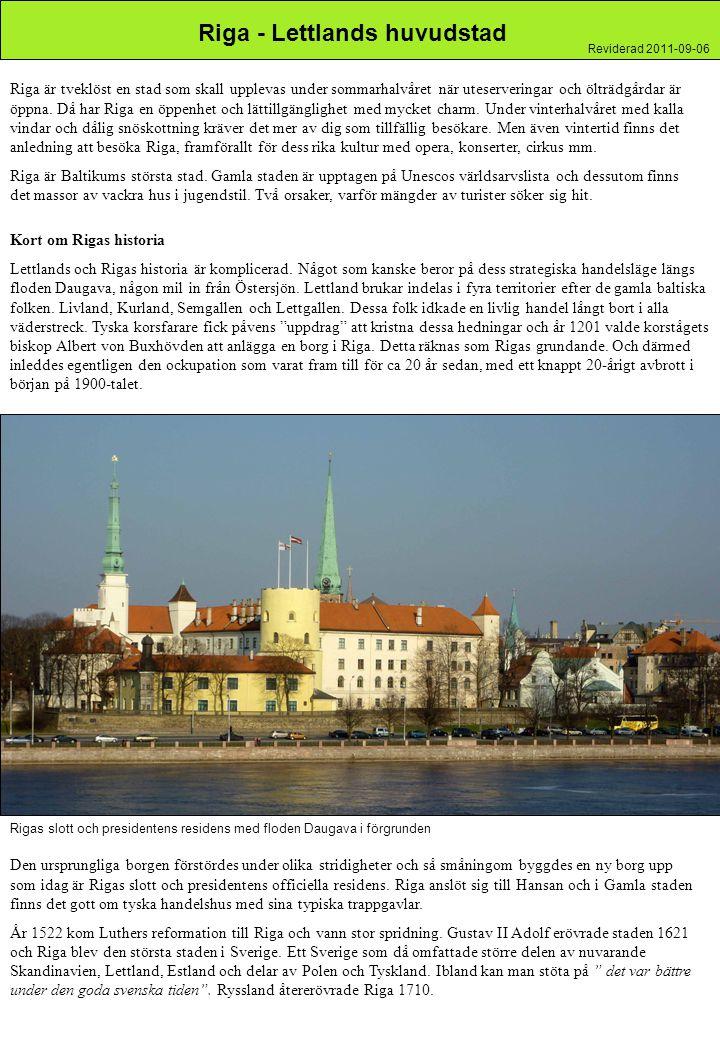 Riga - Lettlands huvudstad