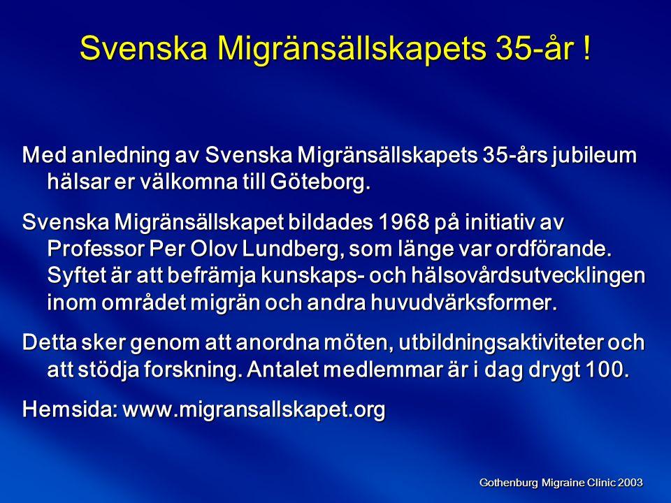 Svenska Migränsällskapets 35-år !