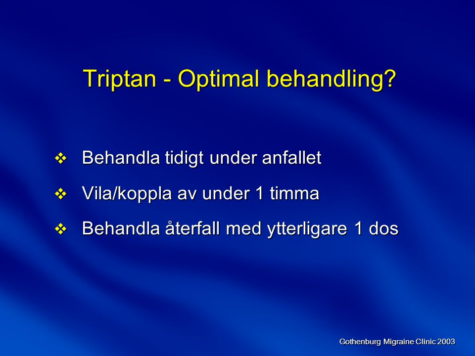 Triptan - Optimal behandling