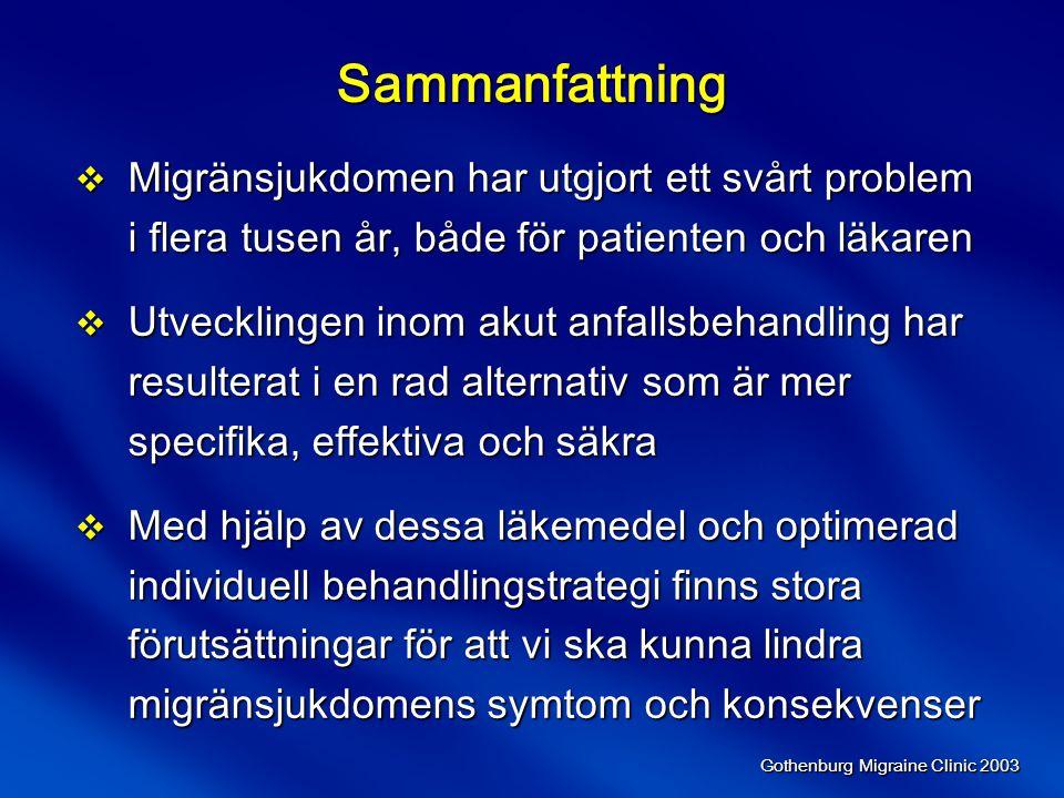 Sammanfattning Migränsjukdomen har utgjort ett svårt problem i flera tusen år, både för patienten och läkaren.