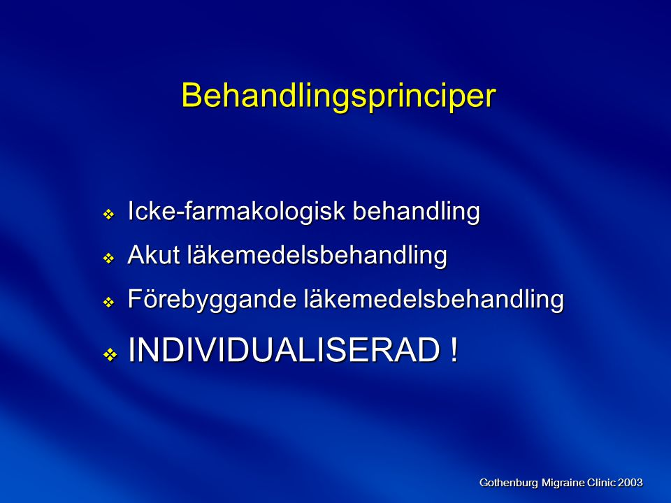 Behandlingsprinciper