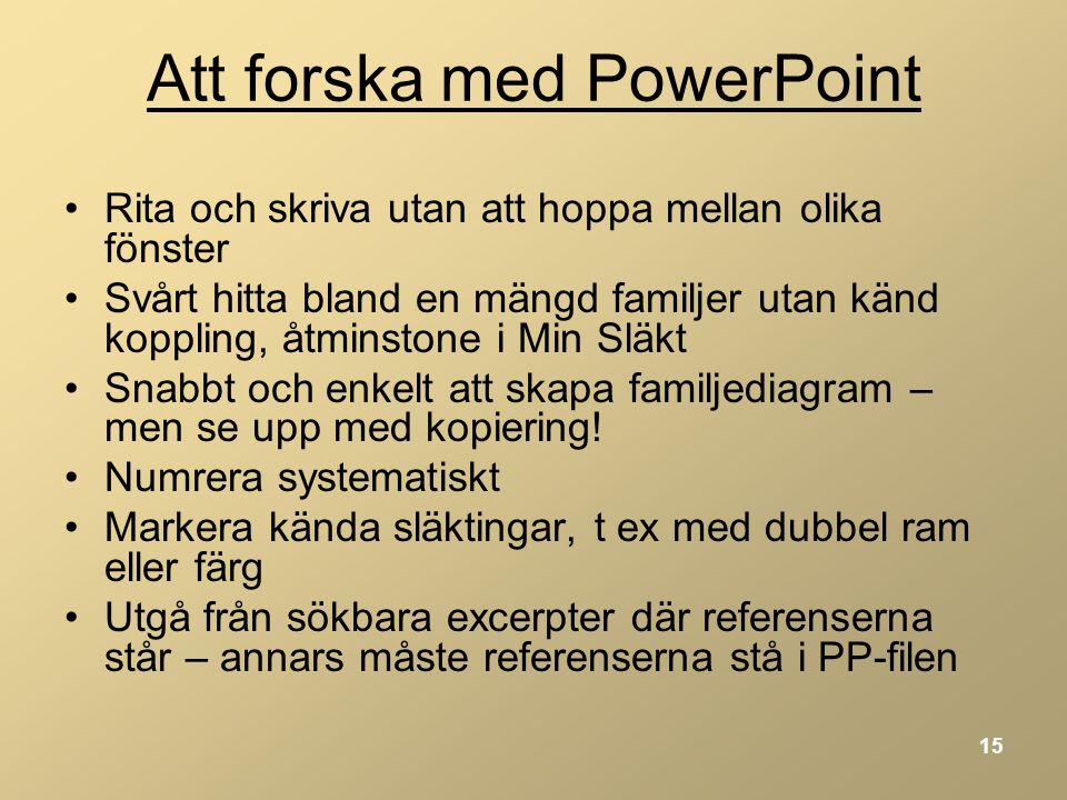 Att forska med PowerPoint
