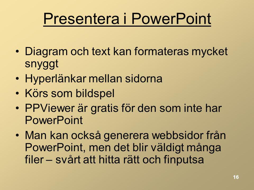 Presentera i PowerPoint