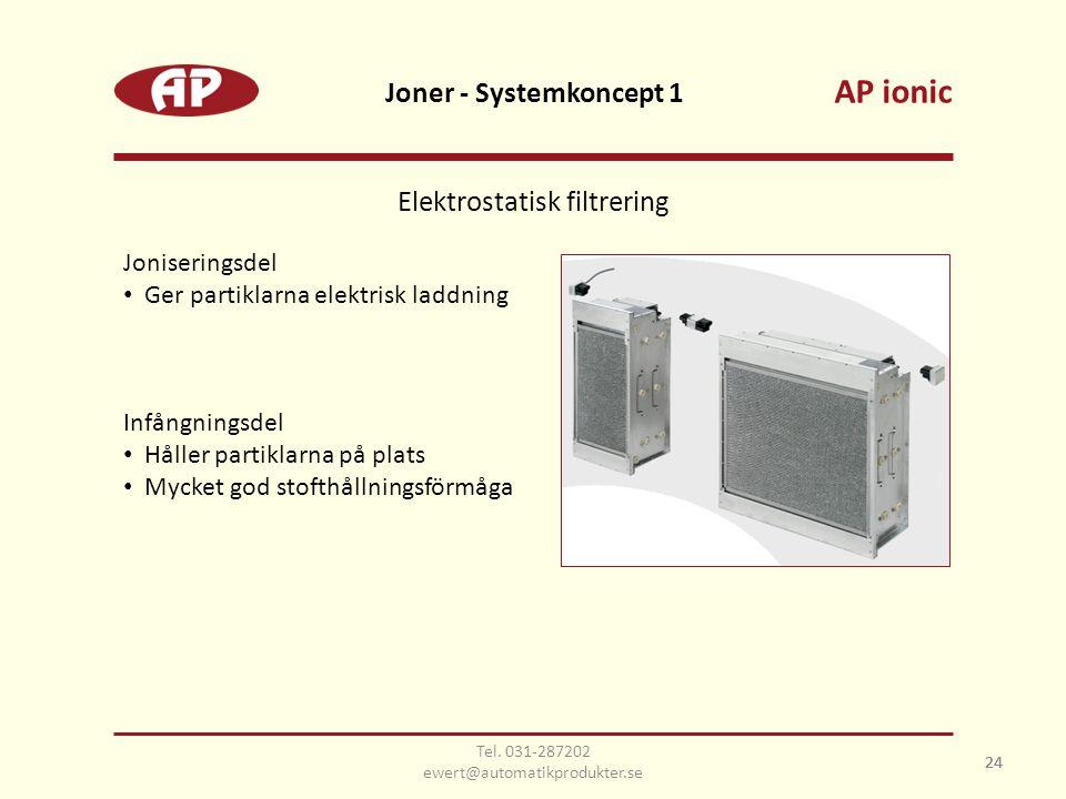 AP ionic Joner - Systemkoncept 1 Elektrostatisk filtrering