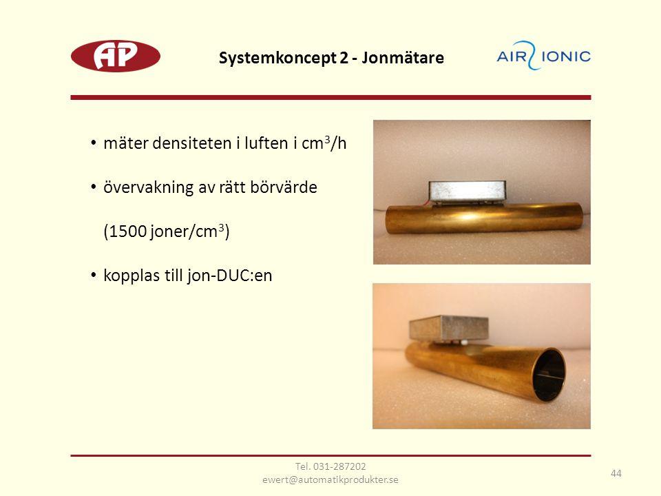 Systemkoncept 2 - Jonmätare