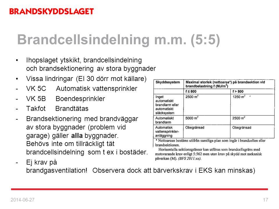 Brandcellsindelning m.m. (5:5)