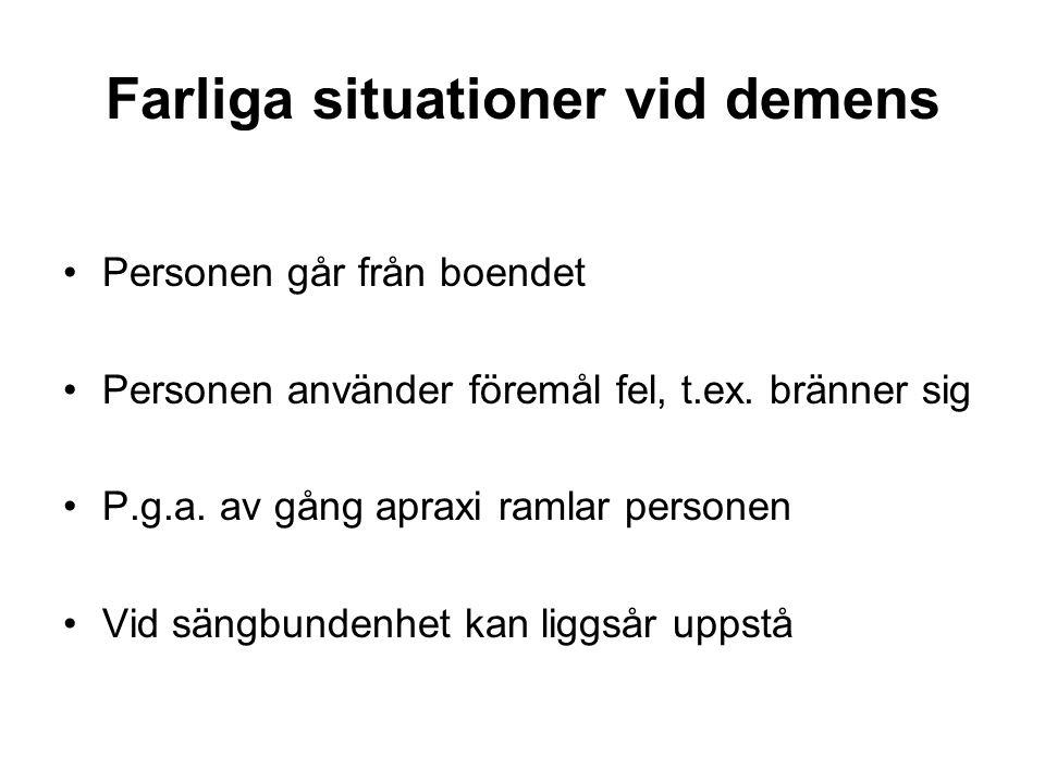 Farliga situationer vid demens