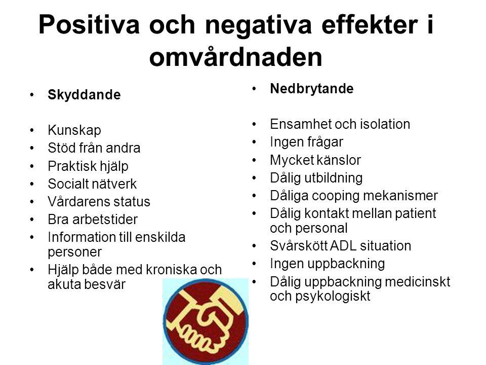 Positiva och negativa effekter i omvårdnaden