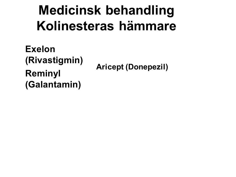 Medicinsk behandling Kolinesteras hämmare