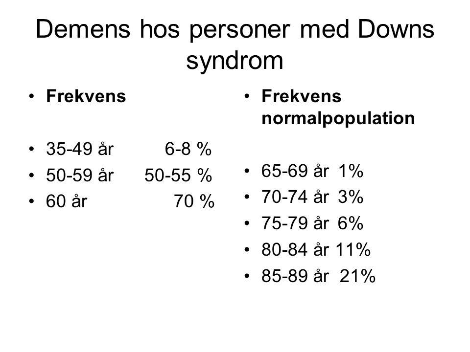 Demens hos personer med Downs syndrom
