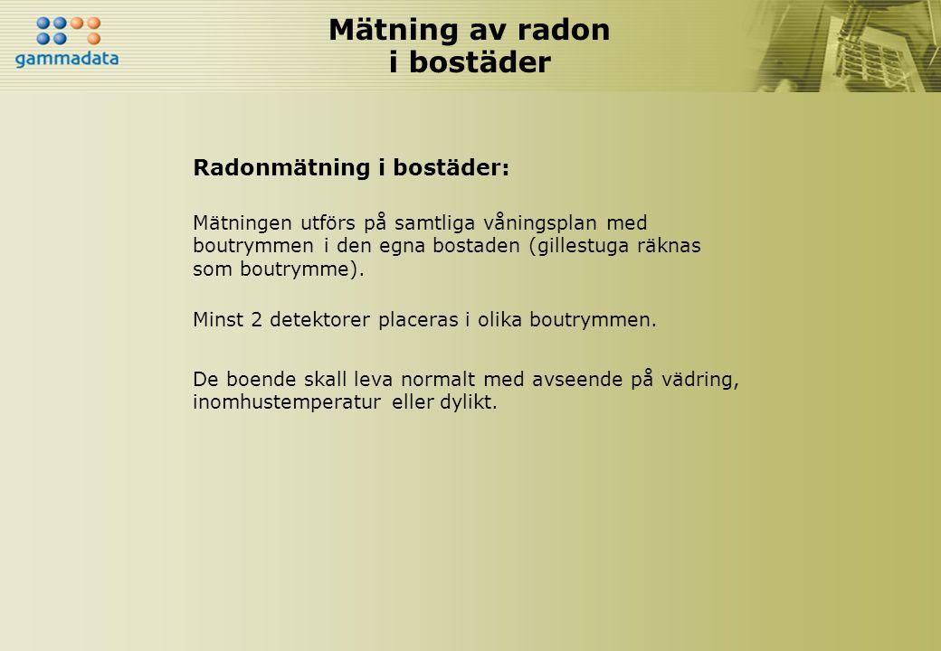 Mätning av radon i bostäder