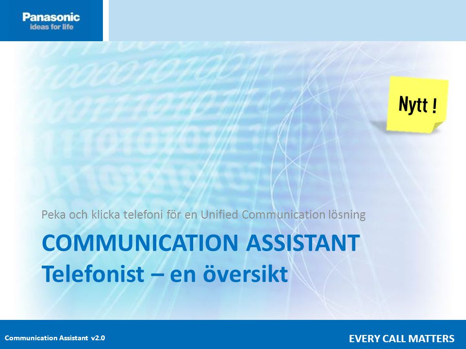 COMMUNICATION ASSISTANT Telefonist – en översikt